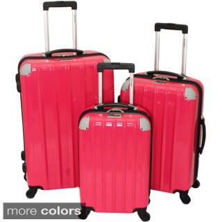 Chariot Vercelli 3-piece Hardside Lightweight Upright Spinner Luggage Set