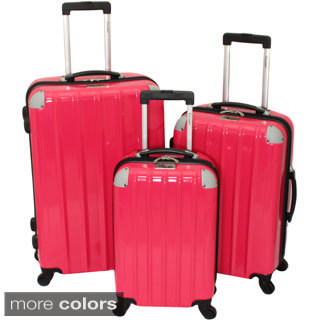 Chariot Vercelli 3-piece Hardside Lightweight Upright Spinner Luggage Set