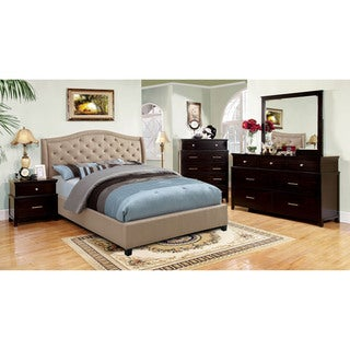 Furniture of America Therise 4-Piece Platform Bedroom Set