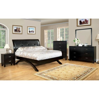 Furniture of America Hythe Espresso 4-Piece Bedroom Set