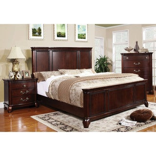 Furniture of America Sky Classic Cherry 2-piece Platform Bed with Nightstand Set