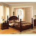 Furniture of America Weston Traditional 2-piece Glossy Dark Pine Poster Bedroom Set