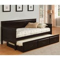 Furniture of America Bausine English Style Platform Daybed with Trundle