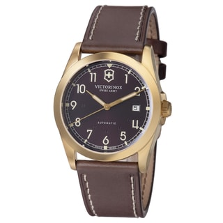Swiss Army Men's 241646 'Infantry' Brown Dial Brown Leather Strap GMT Watch