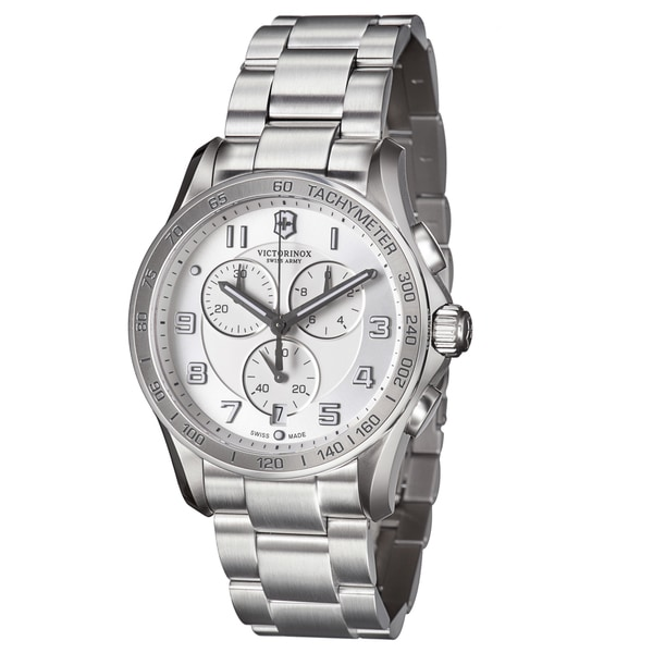 Swiss Army Men's 241654 'Chrono Classic' Silver Dial Stainless Steel Quartz Watch