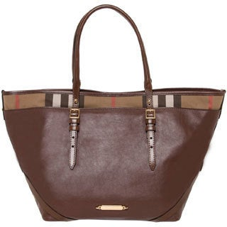 Burberry Medium House Check Salisbury Tote