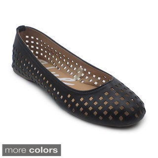 Blue Women's 'Mowey' Perforated Flats