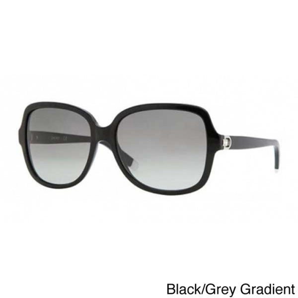 DKNY Women's 'DY4078B' Oversized Rectangular Sunglasses