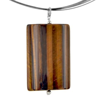 Ashanti Sterling Silver Tiger's Eye Handmade Necklace (Sri Lanka)