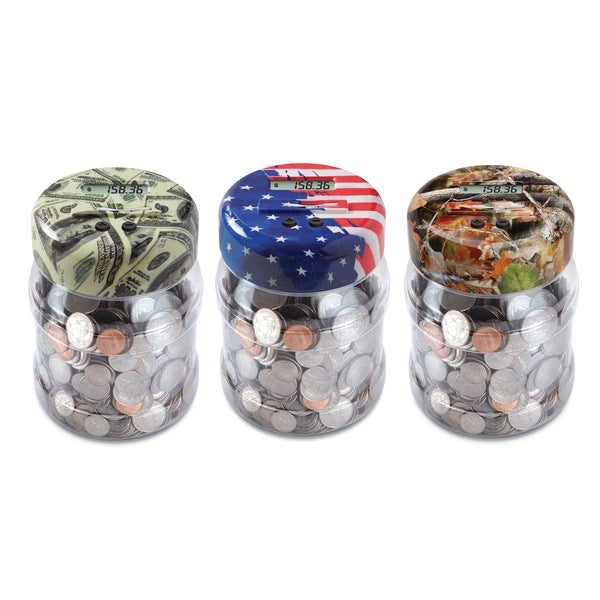 Black Series Coin Counting Jar with Designs 13395917