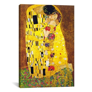 The Kiss by Gustav Klimt Canvas Print Wall Art