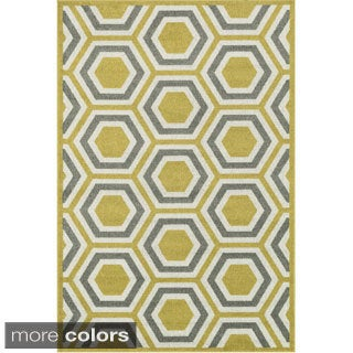 Indoor/ Outdoor Palm Geo Rug (9'2 x 12'1)