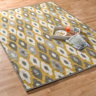 Indoor/ Outdoor Palm Citron/ Multi Rug (5'2 x 7'5)