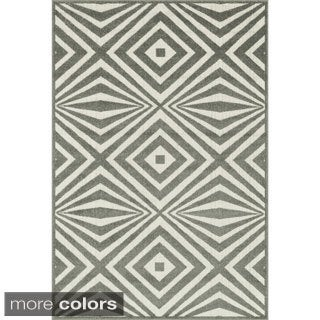 Indoor/ Outdoor Palm Diamond Rug (9'2 x 12'1)