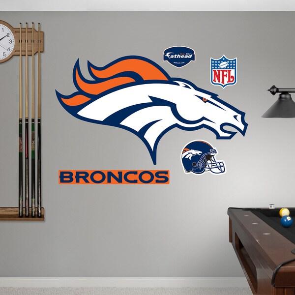 Fathead Denver Broncos Logo Wall Decals 13396096