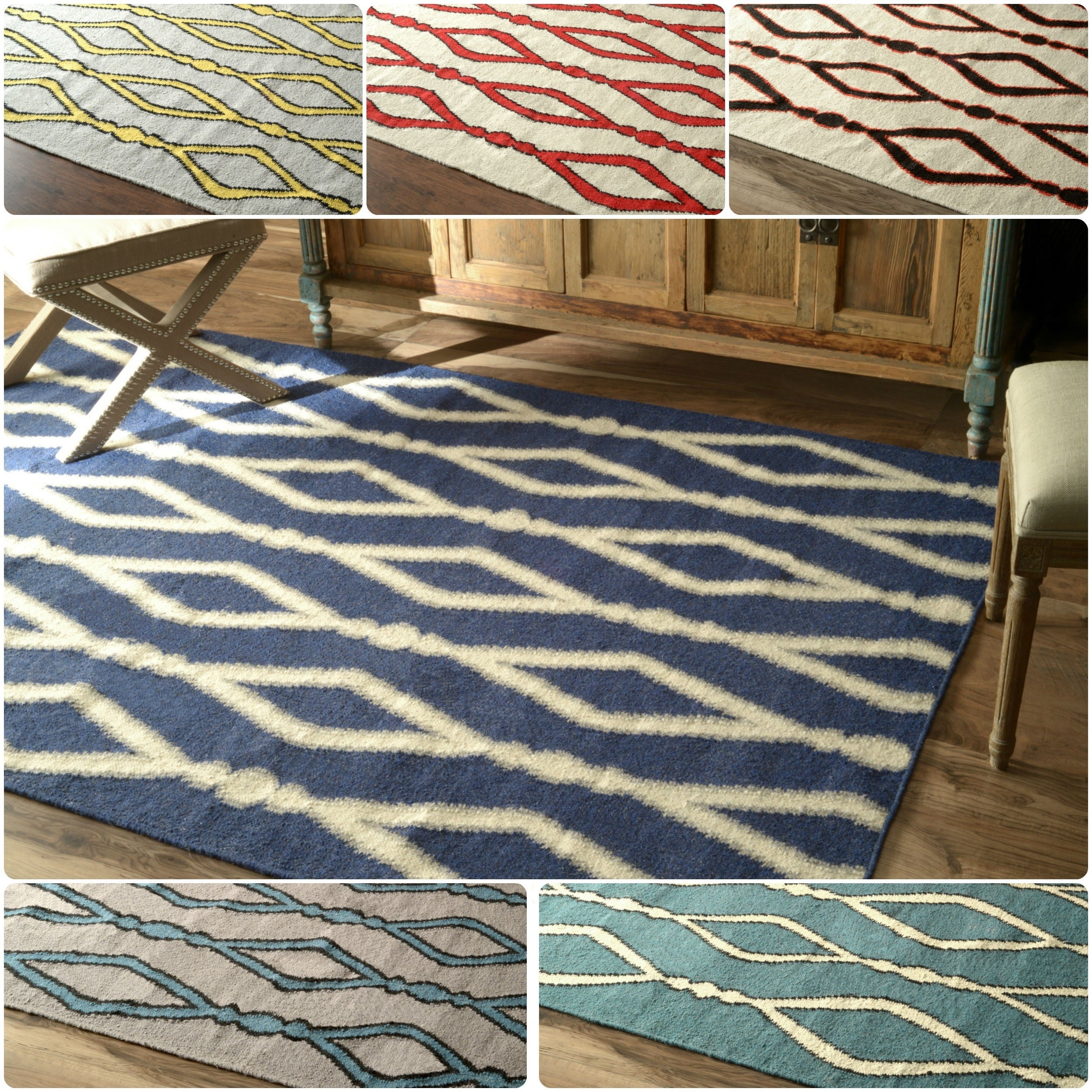 nuLOOM Flatwoven Trellis Wool Fancy Rug (5' x 8') at Sears.com
