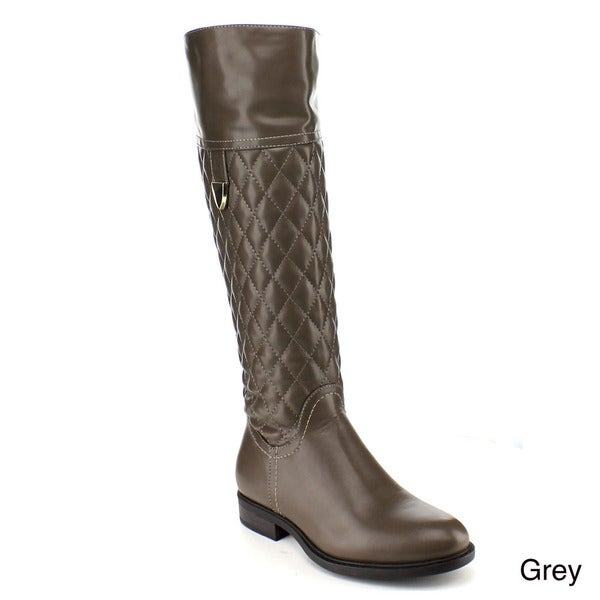 Blossom Women's 'NELLY-2' Quilted Shaft Knee-high Riding Boot