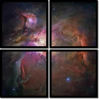 NASA 'Orion Nebula Quad- set of 4' Framed Art Print 19 x 19-inch Each
