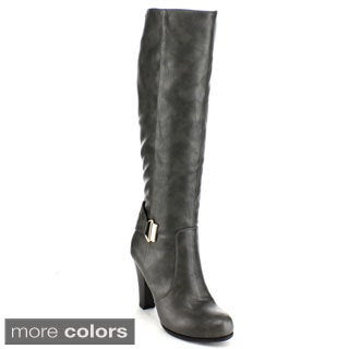 Blossom Women's 'Dove-8' Knee-high Chunky Boots