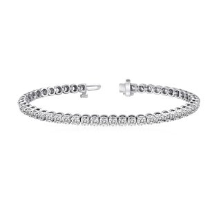Auriya 14k White Gold 15ct TDW Certified Diamond Tennis Bracelet (G-H, VS2-SI1)