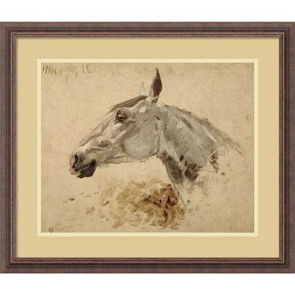 Henri de Toulouse-Lautrec 'Testo Di Cavallo' Framed Art Print 27 x 23-inch