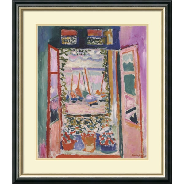 Henri Matisse 'Open Window, Collioure, 1905' Framed Art Print 24 x 28-inch