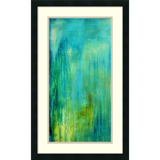 Erin Ashley 'Blue Mountain Rain I' Framed Art Print 19 x 31-inch
