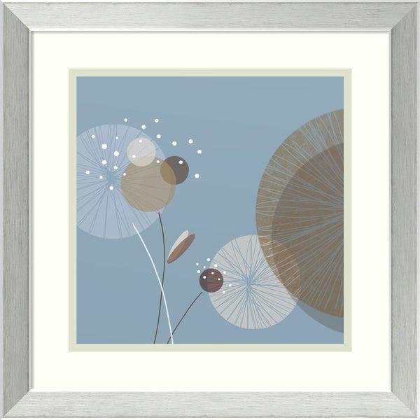 Christina Mitchell 'Blue Breeze II' Framed Art Print 17 x 17-inch