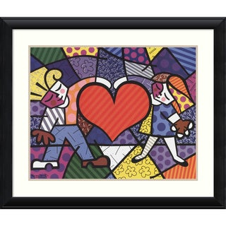 Romero Britto 'Heart Kids' Framed Art Print 37 x 31-inch