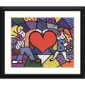 Romero Britto 'Heart Kids' Framed Art Print 37 x 31-inch
