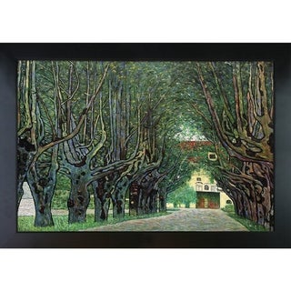 Gustav Klimt 'Avenue in Schloss Kammer Park' Hand-painted Framed Canvas Art