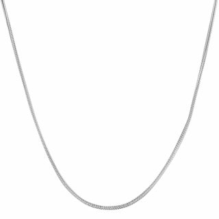 Fremada Sterling Silver 1-mm Italian Foxtail Necklace (16-30 inch)