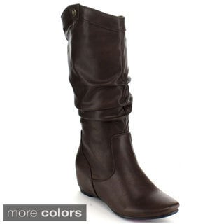 Blossom Women's 'Amar-46' Slouchy Knee-high Boots