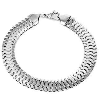 Men's Stainless Steel Double Snake Chain Link Bracelet