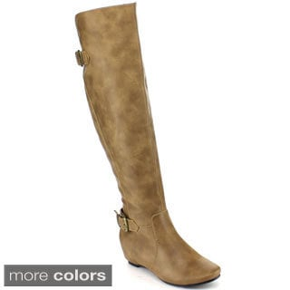 Blossom Women's 'Amar-14X' Buckle Strap Classic Knee-high Riding Boots
