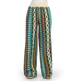 Hadari Women's Geometric Striped Palazzo Pants