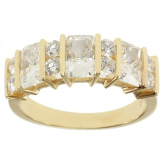 Michael Valitutti Signity 14k Yellow Gold and Cubic Zirconia Channel-set Band Ring