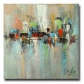 Hand-painted 'Abstract543' Gallery-wrapped Canvas Art