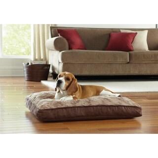 "Animal Planet 30"" Memory Foam Rectangle Pet Bed Swirl Top"