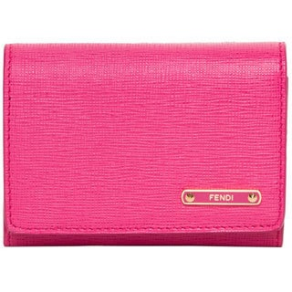Fendi Crayons Fuchsia Flap Card Case
