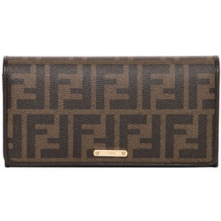 Fendi Brown Zucca Continental Wallet