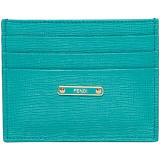 Fendi Crayons Turquoise Card Case