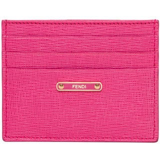Fendi Crayons Fuchsia Card Case