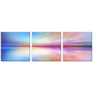 Agsandrew's 'Abstract Landscape' Canvas Gallery Wrap Art 3 pc set