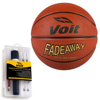 Voit Fadeaway Size 7 Rubber Basketball with Ultimate Inflating Kit