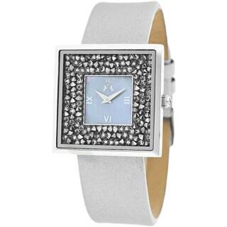 Jivago Women's Brillance-S White Leather Watch