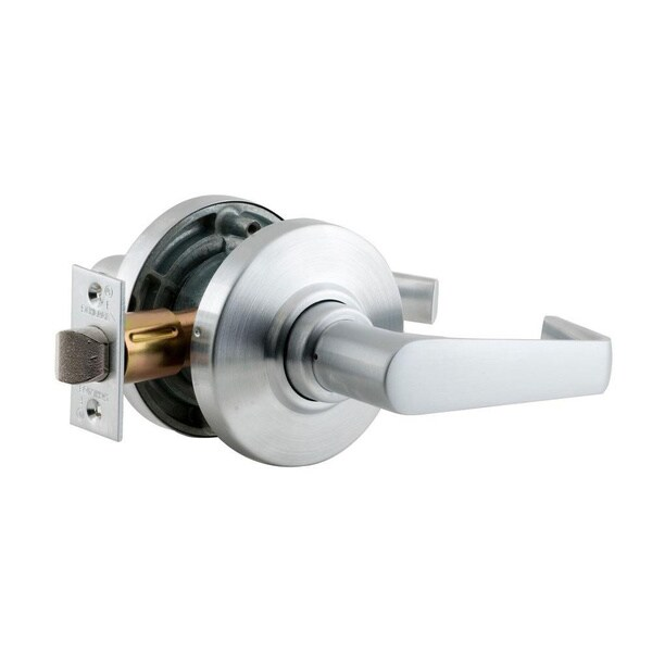 Schlage Saturn Satin Chrome Commercial Keyless Passage Lever