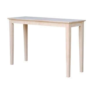 Unfinished Solid Parawood Shaker Console Table