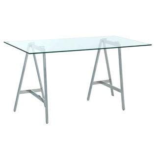 Sunpan Ackler Glass Writing Desk
