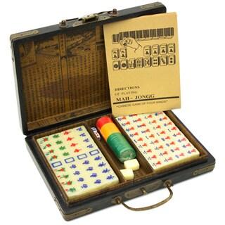 Antiqued Mahjong Set (China)